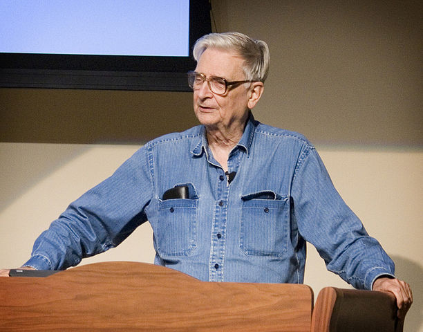 E.O. Wilson addresses E.O. Wilson Biophilia center - Image Credit: https://en.wikipedia.org/wiki/File:EOWilsonCntr.jpg